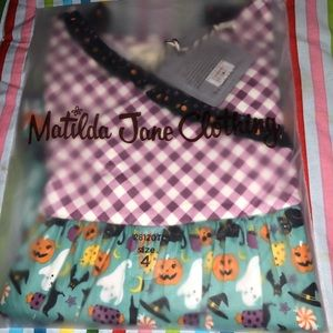 NIB Matilda Jane Halloween tunic sz4